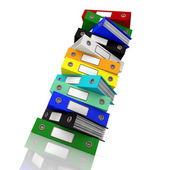 Stack Of Files For Getting Office Organized — Stock Photo