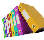 Row Of Colorful Files To Get The Office Organized — Stock Photo