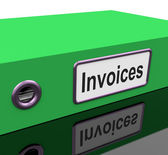 Invoices File Show Accounting And Expenses — Stock Photo