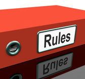 Rules File Or Policy Guide Documents — Stock Photo