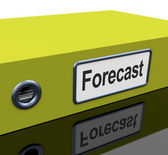 Forecast File Shows Company Direction And Targets — Stock Photo