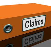 Roszczeń plik zawiera wniosków ubezpieczeniowych lub dokumentacji — Zdjęcie stockowe