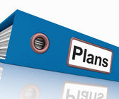Plans File As Contains Targets And Goals — Stock Photo
