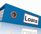Loans File Contains Borrowing Or Lending Paperwork — Stock Photo