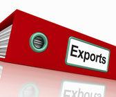 Exports bestand weergegeven: wereldwijde distributie — Stockfoto