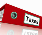 Taxes File Contains Taxation Reports And Documents — Stock Photo