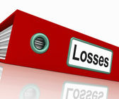 Losses File Contains Accounting Documents And Reports — Stock Photo