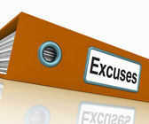 Excuses File Contains Reasons And Scapegoats — Stock Photo