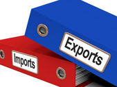 Export And Import Files Showing International Trade Or Global Co — Foto de Stock