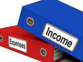 Income Expenses Files Show Budgeting And Bookkeeping — Stock Photo
