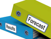 Forecast Results Files Show Progress And Goals — Stock Photo