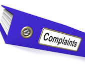 Complaints File Shows Complaint Reports And Records — Stock Photo