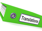 Translations File Showing Copy Of Translated Documents — Stock Photo