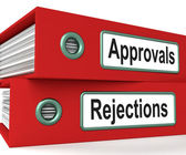 Approvals Rejections Files Showing Accept Or Decline Reports — Stock Photo