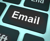 Email Computer For Emailing Or Contacting — Stock Photo