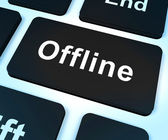 Offline Key Shows Internet Communication Status Disconnected — Stock Photo