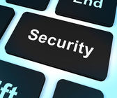 Security Computer Key Showing Privacy And Safety — Stock Photo