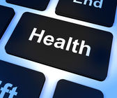 Health Key Showing Online Healthcare — Stock Photo
