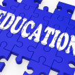 Stock Photo: Education Puzzle Showing University Studies