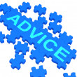Stock Photo: Advice Puzzle Showing Guidance And Support