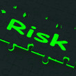 Stock Photo: Risk Puzzle Shows Danger And Unsafe