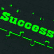 Success Puzzle Showing Successful Strategies — Foto Stock