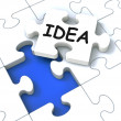 Idea Puzzle Showing Creative Innovations — Stock Photo