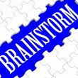 Foto Stock: Brainstorm Puzzle Showing Creative Ideas