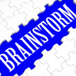 Brainstorm Puzzle Showing Creative Ideas — Foto Stock