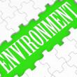 Environment Puzzle Shows Ecological Conservation — Stock Photo