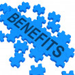 Benefits Puzzle Shows Company Rewards - Stock Photo