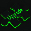 Stock Photo: Upgrade Puzzle Showing Updating Versions