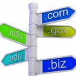 Stock Photo: URL Signpost Shows WWW. Addresses