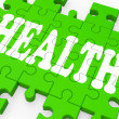 Stock Photo: Health Puzzle Shows Medical Care