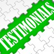 Testimonials Puzzle Showing Credentials And Recommendations — Stock Photo