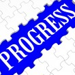 Progress Puzzle Shows Business Growth — Stock Photo