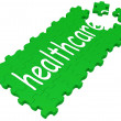 Stock Photo: Health Care Puzzle Shows Medical Care