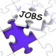 Stock Photo: Jobs Puzzle Shows Vocational Guidance
