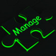Royalty-Free Stock Photo: Manage Puzzle Shows Business Manager
