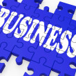Business Puzzle Showing Corporate Deals — Stock Photo