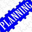 Stock Photo: Planning Puzzle Showing Intention And Goals
