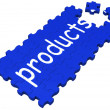 Stock Photo: Products Puzzle Shows Shopping Or Merchandise