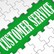 Customer Service Puzzle Shows Technical Support - Stock Photo