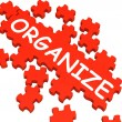 Stock Photo: Organize Puzzle Shows Arranging Or Organizing