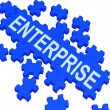 Enterprise Puzzle Showing Corporate Plans — Stock Photo