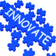 Innovate Puzzle Shows Creative Design — Stock Photo