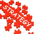 Stock Photo: Strategy Puzzle Showing Plans And Tactics