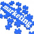 Stock Photo: Marketing Puzzle Showing Advertising Sites
