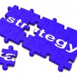 Strategy Sign Showing Planning And Tactics — Stock Photo