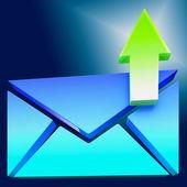 Symbol obálky ukazuje, e-mailem nebo kontaktování — Stock fotografie